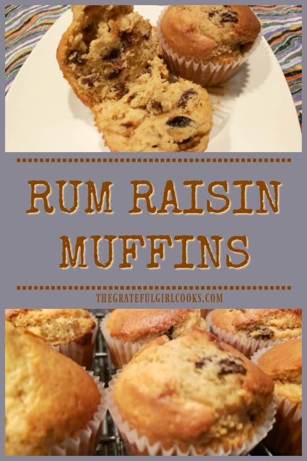 Rum Raisin Muffins are an easy to prepare breakfast treat! Brown sugar muffins filled with rum-soaked raisins! Recipe yields 1 dozen.