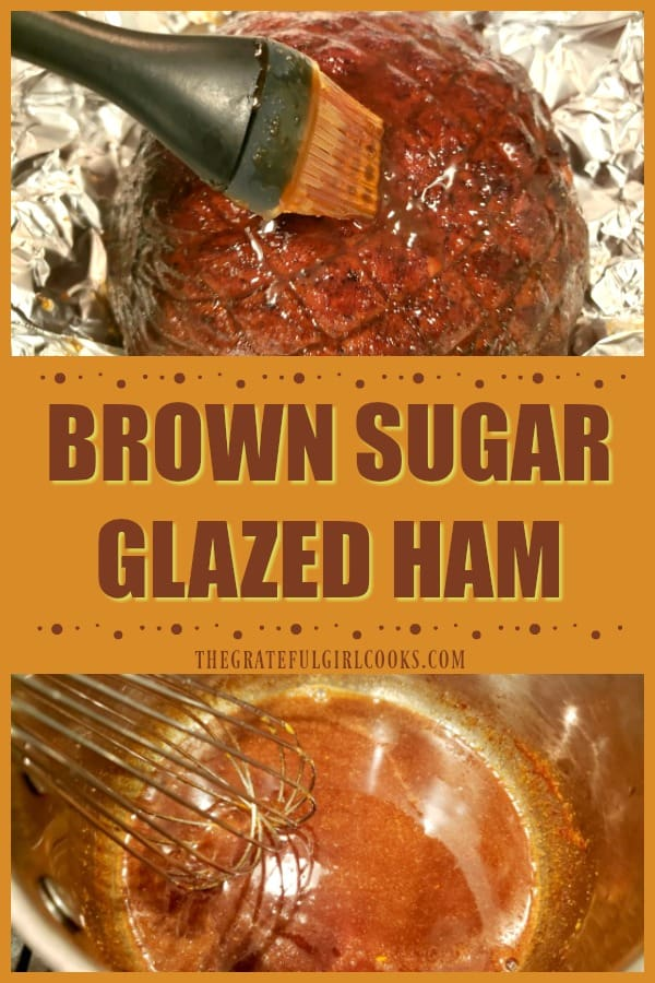 Brown Sugar Glazed Ham is perfect for dinners or holiday feasts! A honey, brown sugar, OJ and spice glaze coats the ham (boneless or bone-in).
