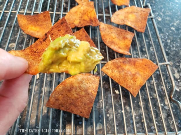 Each seasoned, air fried chip is crunchy and ready for dipping!