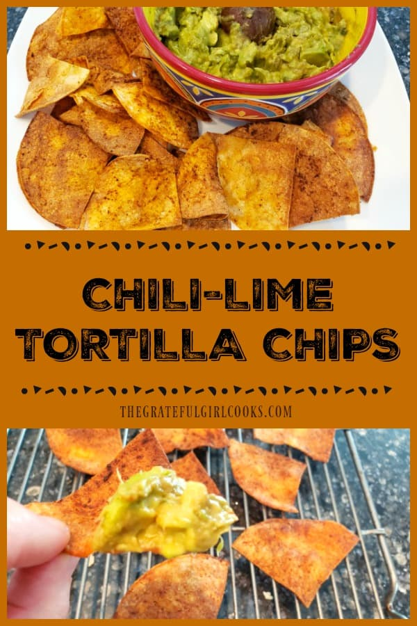 Make a quick batch of crunchy Chili-Lime Tortilla Chips in an air fryer! Corn tortillas, lime juice, oil, and a few spices are all you need!