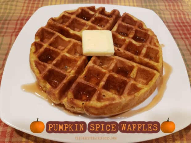 Pumpkin Spice Waffles are an amazing breakfast treat all year long! Golden brown, crispy, and simple to make- you're gonna love 'em!