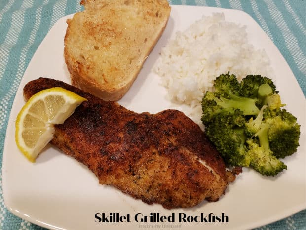 Skillet Grilled Rockfish is an easy, tasty dish that's ready in 15 minutes! Well-seasoned fish fillets are cooked in butter until browned.