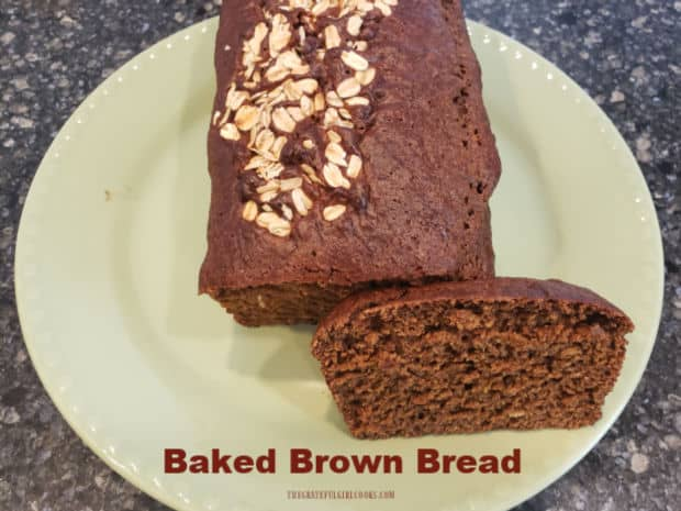 You're gonna love this easy recipe for a delicious large loaf of Baked Brown Bread! Molasses and cocoa powder add to the color and flavor!