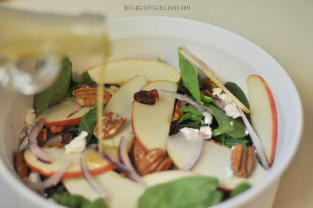 This salad dressing tastes wonderful on a spinach or mixed green salad.