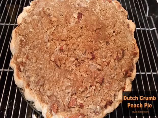 Make a Dutch Crumb Peach Pie to enjoy the taste of summer! A delicious, classic peach pie, covered with crumbly, buttery streusel topping!