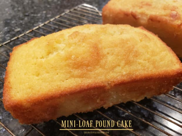 It's easy to make a yummy, mini-loaf pound cake with simple ingredients! Enjoy this small loaf, flavored with lemon zest and lemon juice!