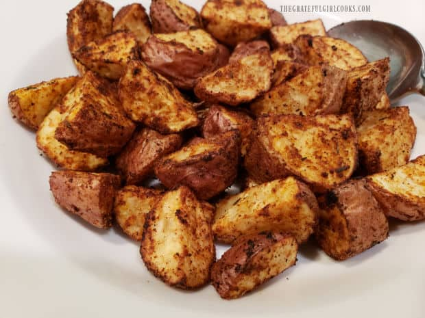 Air Fryer Cajun Spuds, ready to be served alongside a favorite main dish.